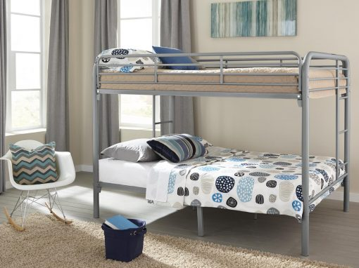 235-Silver Full Over Full Bunkbed