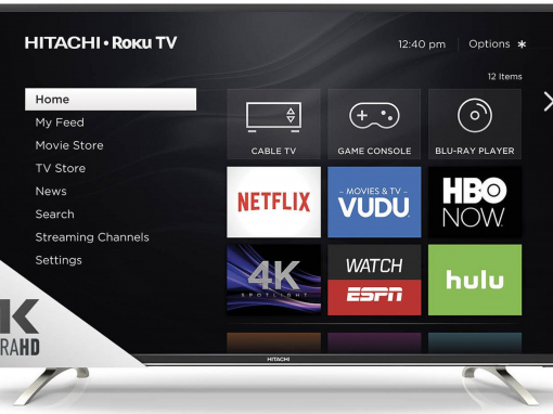 55 Hitachi 4K Roku UHDTV